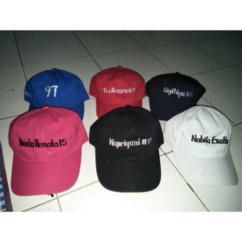 Topi Bordir Nama topi baseball free nama bordir shopee indonesia