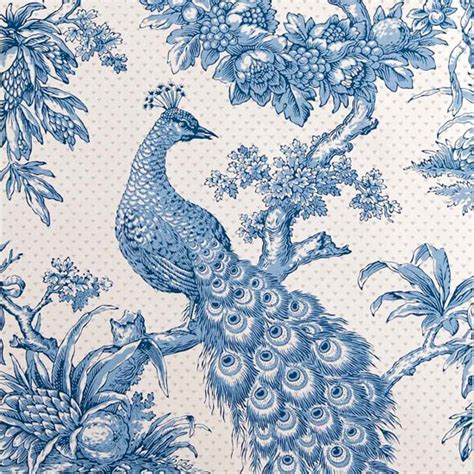 Printed Wallpapers | peacock hand printed wallpaper from hamilton weston bird
