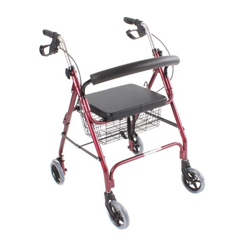 walkers with a seat seamount lightweight aluminum cart four walkers with a