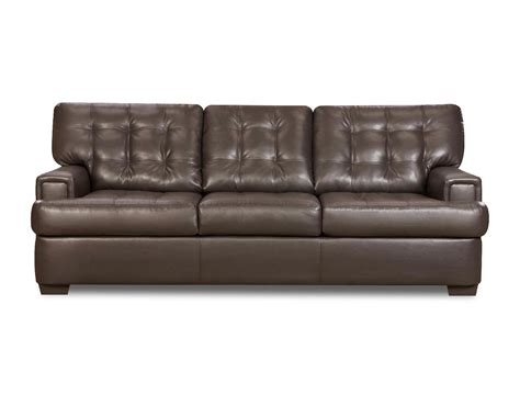 couches at sears simmons dark brown three seat sofa