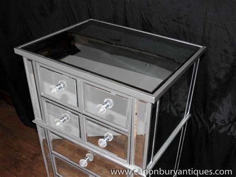 mirrored desk with drawers art deco mirror chest drawers tall boy mirrored furniture