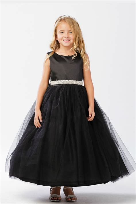 ttb flower girl dress style  black sleeveless