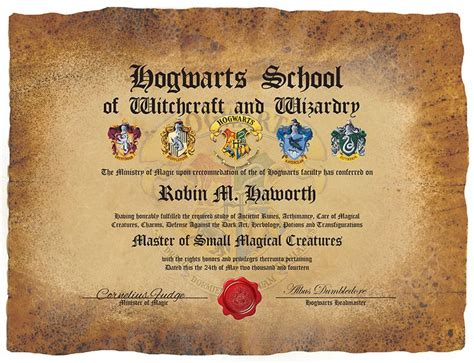 hogwarts certificate template pin by casey cornett on misc