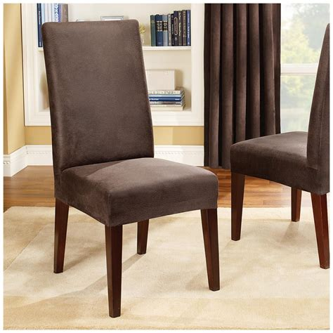 stretch dining room chair covers sure fit stretch leather shorty dining room chair