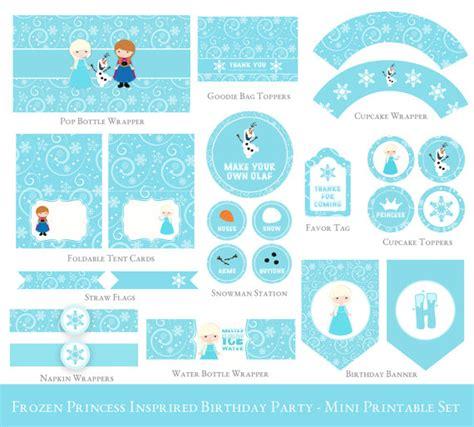 printable frozen set frozen birthday printable mini set olaf party printable