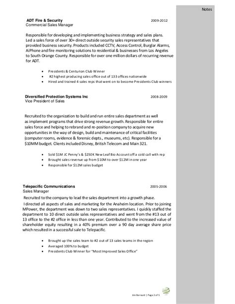 Resume Sles For Security Security Sales Resume