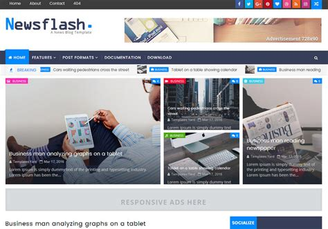 news flash template choice image templates design ideas