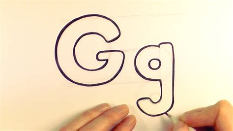 How To Draw The Letter G how to draw a letter g and g