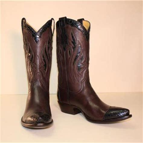 Country Boots Original Handmade Brown Black lugus mercury handmade boots custom cowboy boots chocolate brown deerskin cowboy boot with