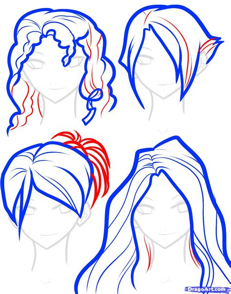 step by step hairstyles to draw how to draw hair for girls step by step hair people