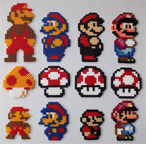 perler bead mario the big and small of mario perler bead by kamikazekeeg