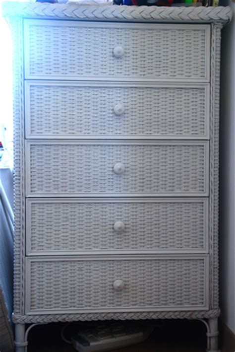 white rattan chest of drawers wicker chests of drawers