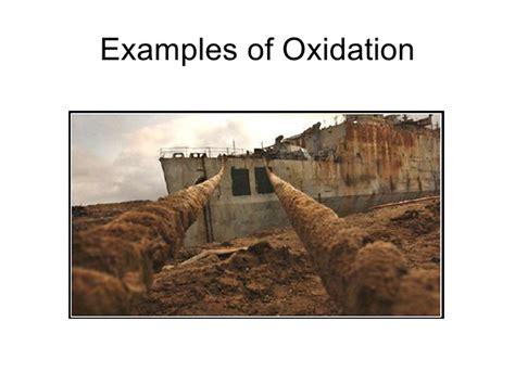 exle of oxidation metals non metals and oxidation