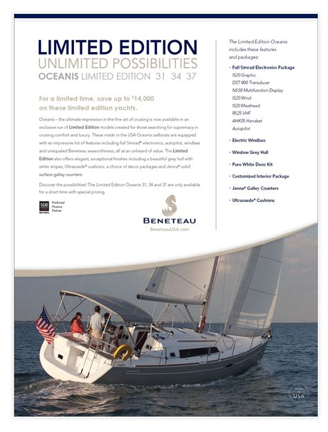 what is limited edition limited edition beneteau oceanis 31 34 37