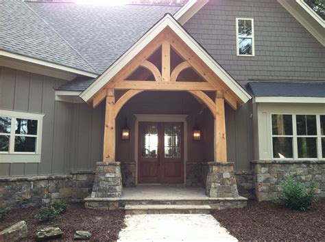 timber frame entry www morganfazzaryfinehomes house