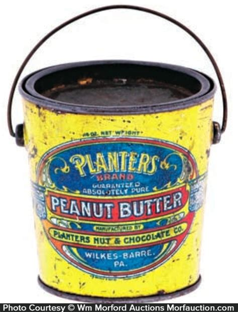 Antique Advertising Planters Peanut Butter Pail Planters Peanut Butter