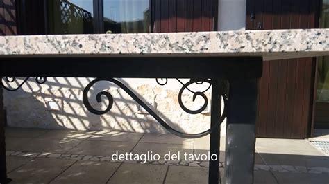 tavolo da giardino in ferro battuto tavolo da giardino in ferro battuto e pietra