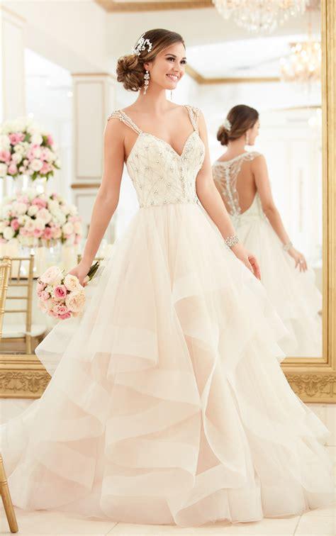 beaded lace wedding dress with sweetheart neckline stella york
