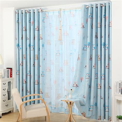 blue curtains for boys bedroom popular lovely owl custom curtain for boys and girls green