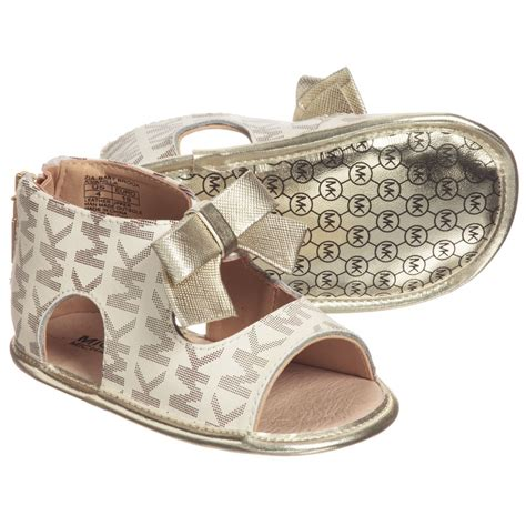 michael kors shoes for baby michael kors baby beige gold sandals