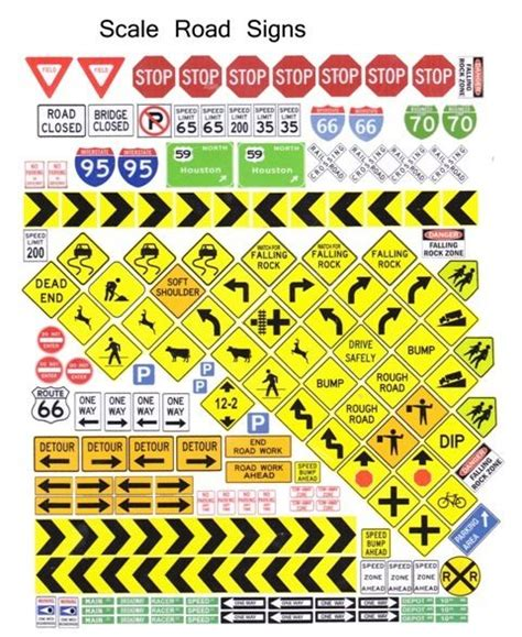 Printable Ho Scale Road Signs printable ho scale signs related keywords printable ho