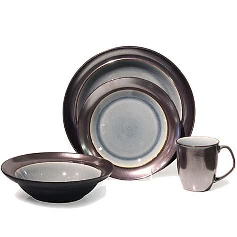 bed bath and beyond dinnerware baum stellar 16 piece dinnerware set in grey bed bath