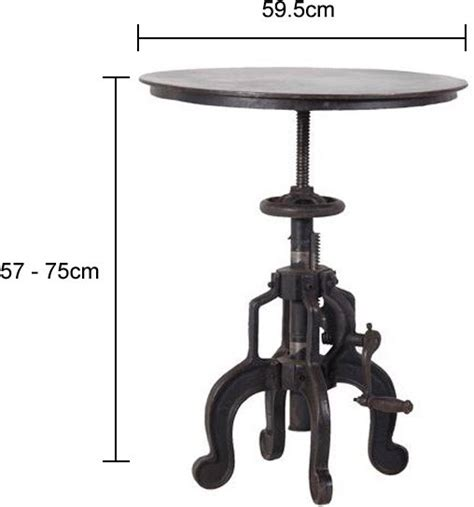 side table height industrial side table with adjustable height side