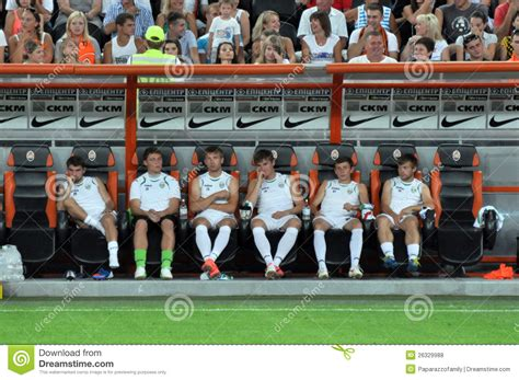 football team bench players football team shakhtar bored on the bench