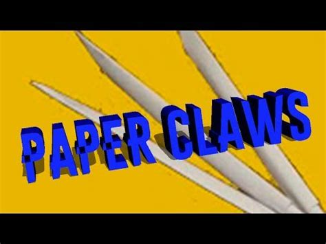 Origami Wolverine Claws - how to make a paper black panther claws funnydog tv