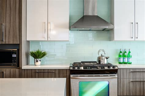 glass tiles for kitchen backsplashes modern kitchen backsplash to create comfortable and cozy