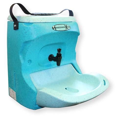 mobile hand wash unit handeman xtra portable teal portable sinks