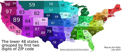 area code maps usa oc the us grouped by two zip code digits 1920x828