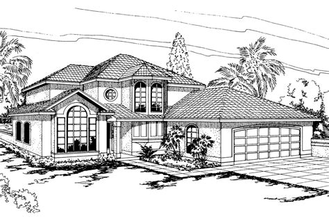 Spanish Style House Plans by Spanish Style House Plans Villa Real 11 067 Associated