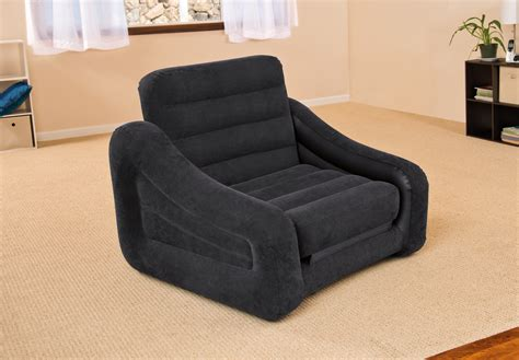 pull out bed chair intex inflatable air chair with pull out twin bed mattress