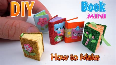Make A Mini Book Challenge by Diy Miniature Book Dollhouse No Polymer Clay