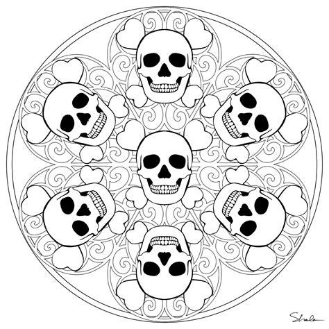 don t eat the paste skull mandala to color