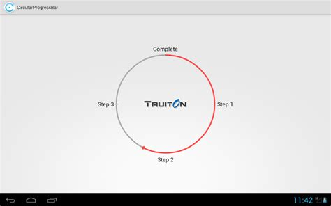 circular layout in android exle android circular progress bar customization tutorial truiton