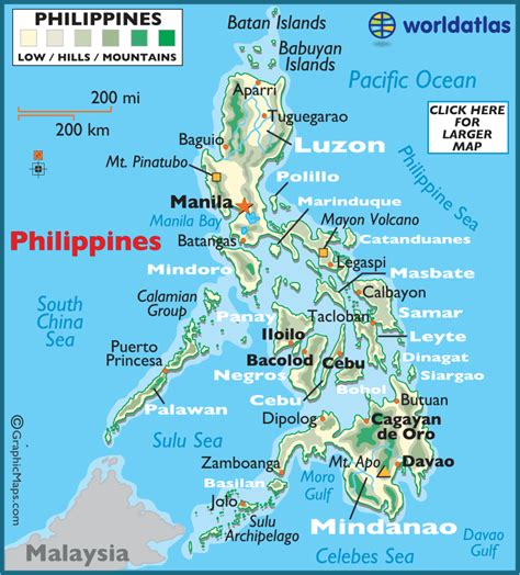 maps philippines philippines large color map