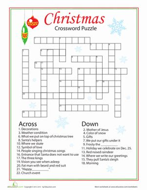 free printable christmas activities for fourth graders words worksheet education
