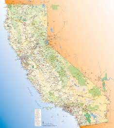 california map with tourist attractions california tourist map