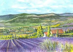 Watercolour Duvet Cover Montagne De Lure In Provence France Painting By Carol