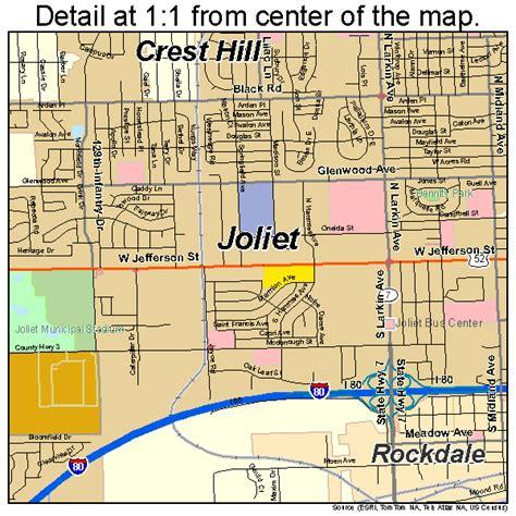 map of joliet il joliet illinois map 1738570