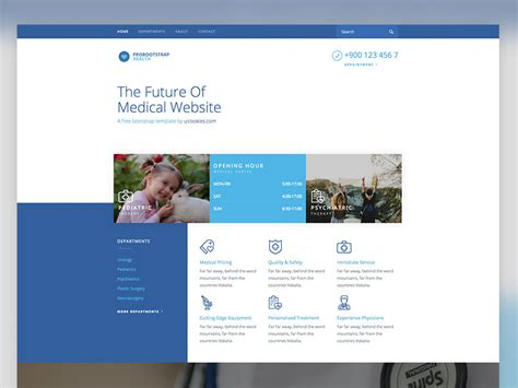templates for website using bootstrap health free medical template using bootstrap 4 framework