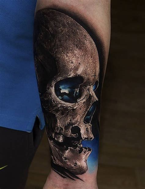 realistic skull tattoo 80 amazing exle of cool skull designs golfian