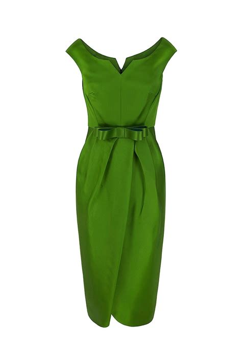 tulip couture cocktail dress absinthe green