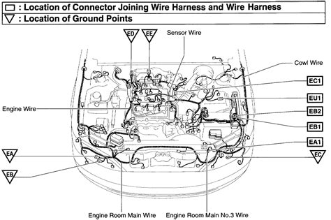 where are the knock sensors located on a 99 lexus es300 where