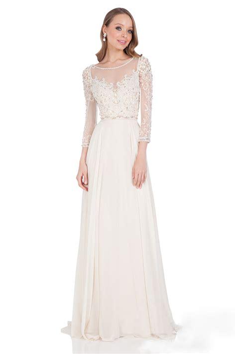 beaded ivory dress ivory beaded sleeve v back a line chiffon dress