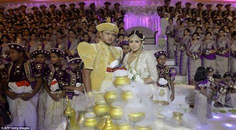 Spectacular Sri Lankan wedding is the world's biggest ever