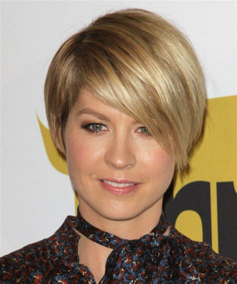 jenna elfman hair styles back view jenna elfman short straight formal hairstyle dark blonde