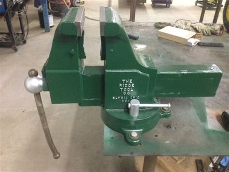 12 inch bench vise here is a ridgid 61 cpn with 6 inch jaws built by the